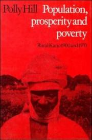 Cover of: Population, prosperity, and poverty | Polly Hill