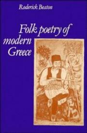 Cover of: Folk poetry of modern Greece