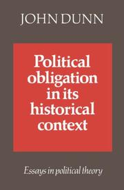 Cover of: Political obligation in its historical context