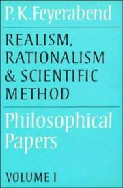 Cover of: Realism, rationalism, and scientific method