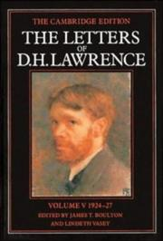 Cover of: The Letters of D. H. Lawrence (The Cambridge Edition of the Letters of D. H. Lawrence) | D. H. Lawrence