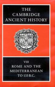 Cover of: The Cambridge ancient history by