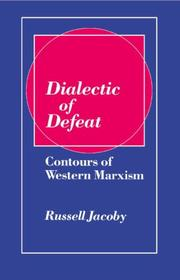 Cover of: Dialectic of defeat