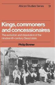 Cover of: Kings, commoners, and concessionaires