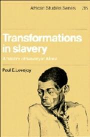 Cover of: Transformations in slavery