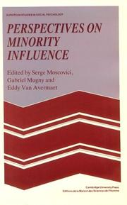 Cover of: Perspectives on minority influence