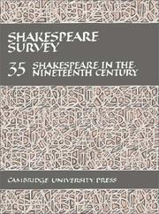 Cover of: Shakespeare Survey | Stanley Wells