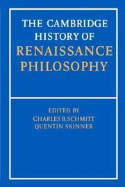 The Cambridge history of Renaissance philosophy