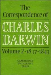 Cover of: The Correspondence of Charles Darwin, Volume 2 | Charles Darwin