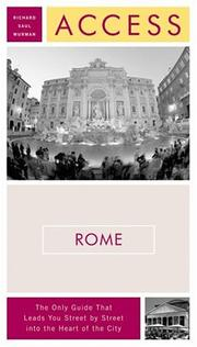 Cover of: Access Rome, 8e (Access Guides) | Richard Saul Wurman
