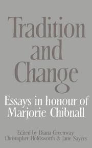 Cover of: Tradition and change |