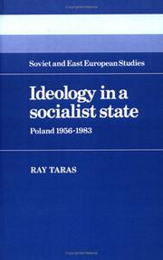 Cover of: Ideology in a socialist state