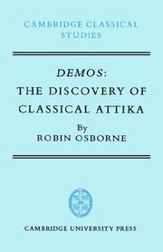 Cover of: Demos, the discovery of classical Attika