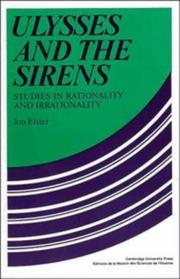 Cover of: Ulysses and the Sirens: studies in rationality and irrationality