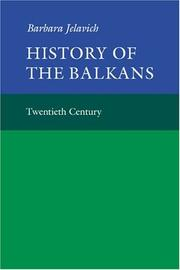 Cover of: History of the Balkans | Barbara Jelavich