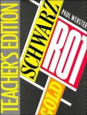Cover of: Schwarz, rot, gold | Webster, Paul