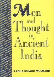 Cover of: Men and thought in ancient India