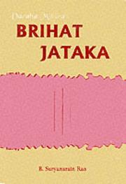 Cover of: Brihat Jataka of Varahamihira