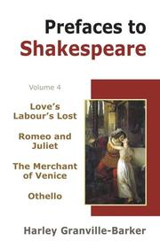 Cover of: Prefaces to Shakespeare (4 Vols. Set)
