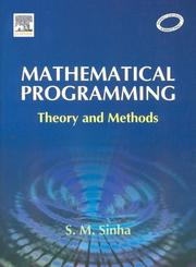 Cover of: Mathematical Programming | S. M. Sinha