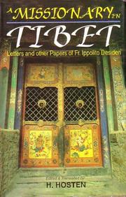 Cover of: Missionary In Tibet
