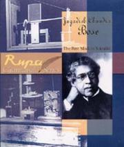 Cover of: Jagadish Chandra Bose ; The First Modern Scientist