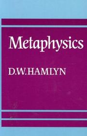 Cover of: Metaphysics | D. W. Hamlyn