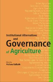 Cover of: Institutional Alternatives and Governance of Agriculture