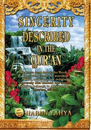 Cover of: Sincerity Described in the Qur'an
