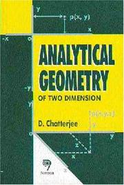 Cover of: Analytical Geometry of Two Dimension
