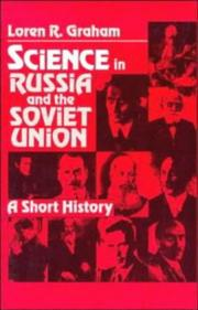 Cover of: Science in Russia and the Soviet Union | Loren R. Graham