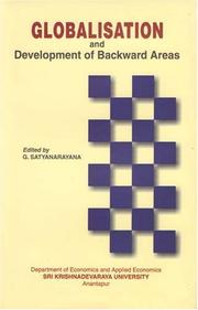 Cover of: Globalisation and Development of Backward Areas