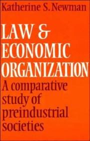 Cover of: Law and economic organization