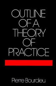 Cover of: Outline of a theory of practice