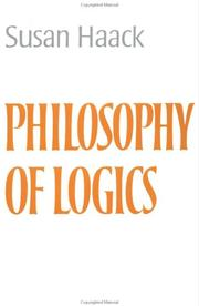 Cover of: Philosophy of logics