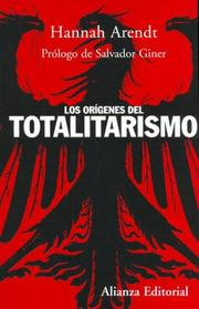 Cover of: The origins of totalitarianism