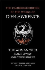 Cover of: The Woman Who Rode Away and Other Stories | D. H. Lawrence