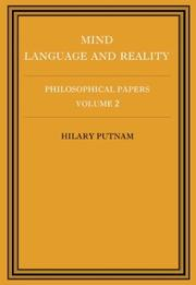 Cover of: Philosophical Papers (Philosophical Papers/Hilary Putnam, Vol 2)