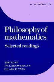 Cover of: Philosophy of mathematics