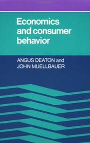 Cover of: Economics and consumer behavior | Angus Deaton