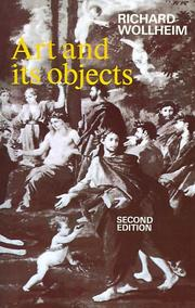 Cover of: Art and its objects