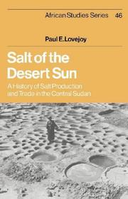 Cover of: Salt of the desert sun