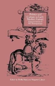Cover of: Politics and culture in early modern Europe |