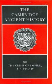 Cover of: The Cambridge Ancient History Volume 12 |