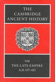 Cover of: The Cambridge Ancient History Volume 13 |