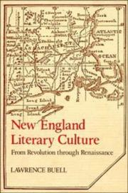 Cover of: New England literary culture from revolution through renaissance | Lawrence Buell