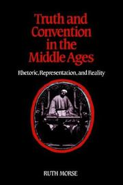 Cover of: Truth and convention in the Middle Ages