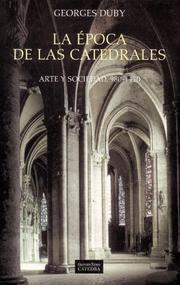 Cover of: La Epoca De Las Catedrales / The Age of the Cathedrals