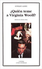 Cover of: Quien teme a Virginia Woolf?