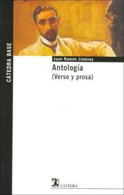 Cover of: Antologia de J.R. Jimenez